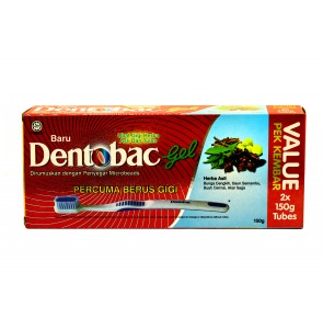 Dentobac Gel toothpaste 150gm Twin pack