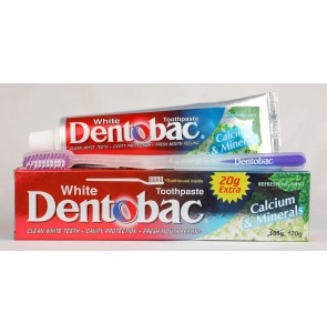 Dentobac white calcium and minerals toothpaste 170g